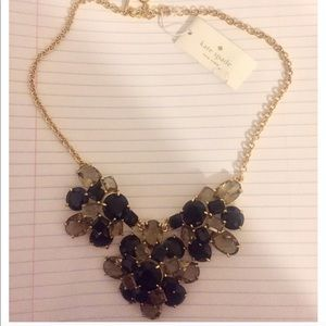 NWT Kate Spade Crystal Cluster Statement Necklace